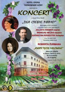 plakat koncert hotel opera 26 maj